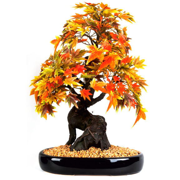 Artificial Japanese Maple Bonsai Plant With Ceramic Pot