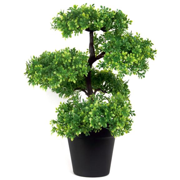 Artificial Bonsai Plant With Plastic Black Pot