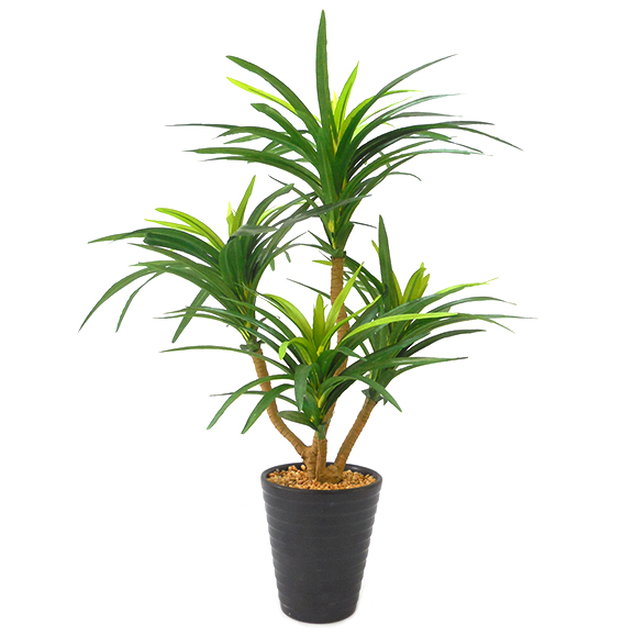 Artificial Yucca Bonsai Plant with ceramic Pot