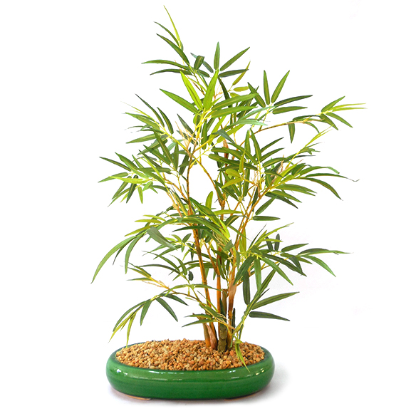 Artificial Bamboo Bonsai Plant with Pot