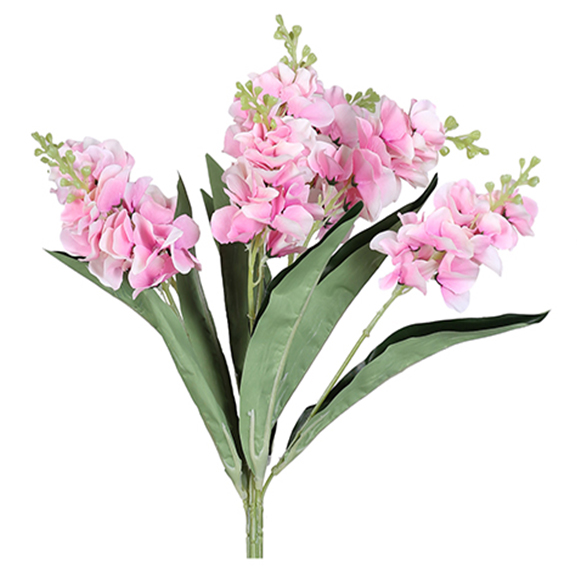 Artificial Pink Orchid Dog Flower Bunch For Decoration