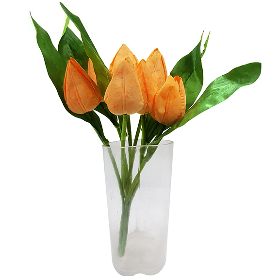 Artificial Yellow Tulip Flower Sticks