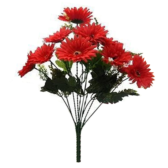 Artificial Single Stem Red Garabara Flower For Home Decor