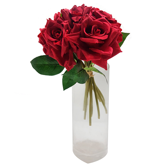 Artificial Red Rose Bunches for Decoration