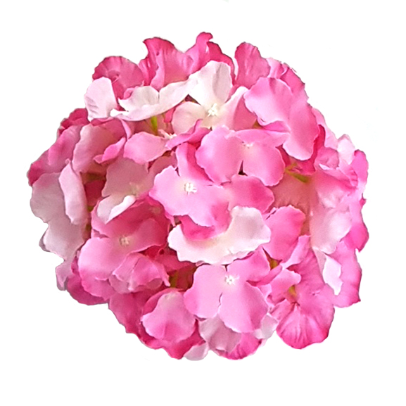 Artificial Light Pink Loose Hydrangea Flower Heads For Decoration