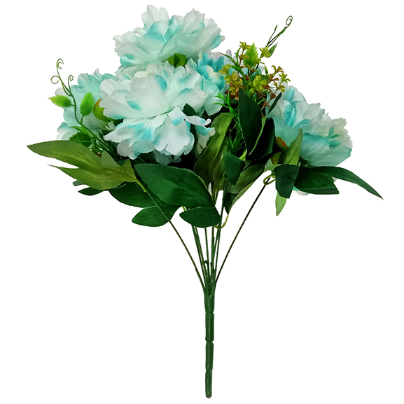 Artificial Blue & White Peony Flower for Home Decor