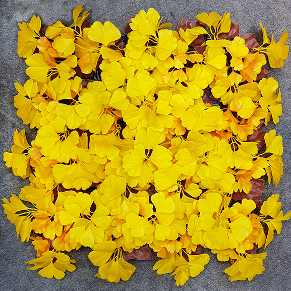 UV Artificial Vertical Wall Garden Mat with Yellow Leaves (50X50 cm)