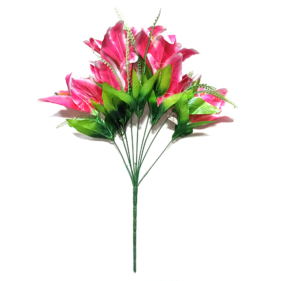 Artificial Pink Lily Flower For Home Decoration
