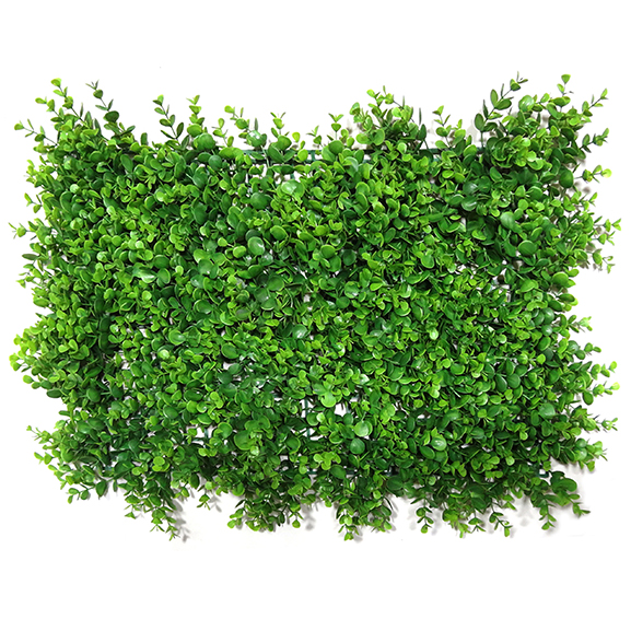 Non UV Artificial Vertical Garden Mat with Green Leaves (40 X 60 cm)