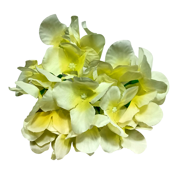 Artificial Yellow Loose Hydrangea Flower Heads For Decoration