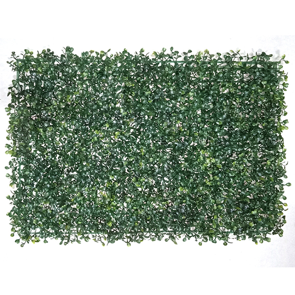 Non UV Protected Artificial Vertical Garden Mat with Green Leaves (40X60 cm)