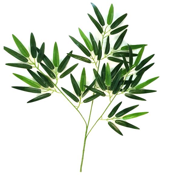 Artificial Green Bamboo Plant Spray