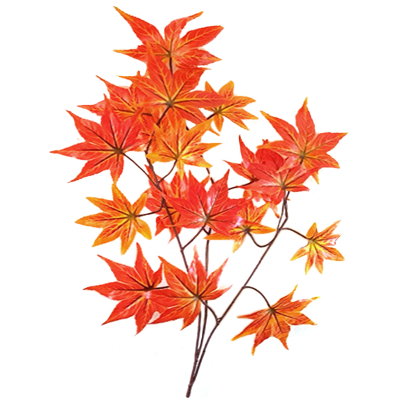 Artificial Maple Leaves Spray For Decoration