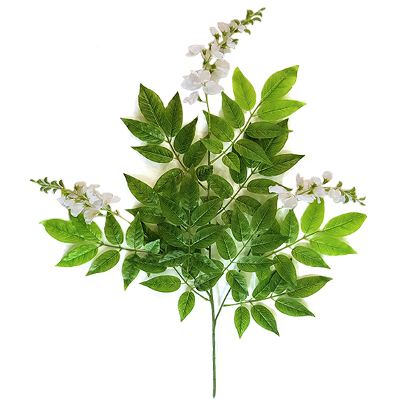 Artificial Green Wisteria Spray For Decoration