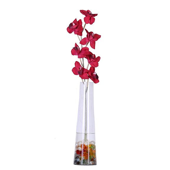Beautiful Artificial Red Cymbidium Orchid Flower For Decor