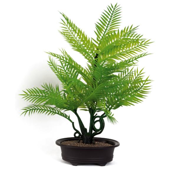 Artificial Areca Palm Bonsai Plant in Oval Tray Pot
