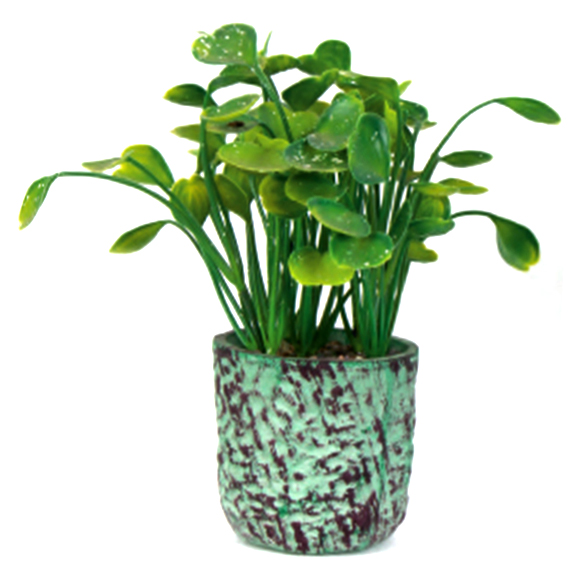 Artificial Lotus Leaf Bonsai Plant With Pot