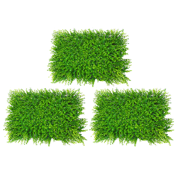 Artificial Non UV Vertical Garden Mat with Green Leaves (40X60)