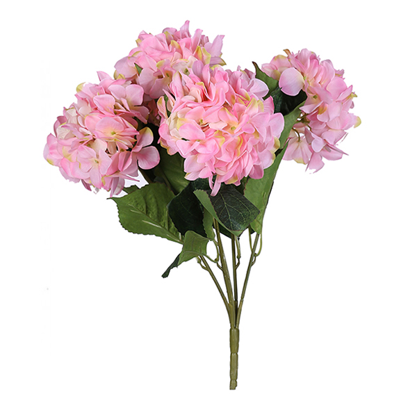 Beautiful Artificial Pink Hydrangea Flower with 5 stick