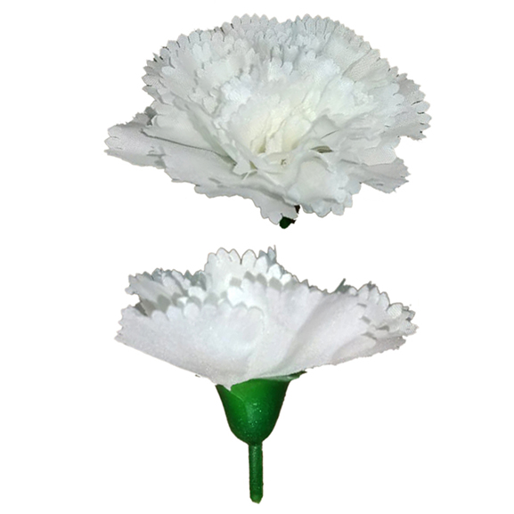 Artificial White Carnation Flower Loose Head For Decoration