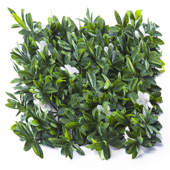 UV Protected Artificial Vertical Garden Mat with Mixed Green Leaves( 50X50 cm)