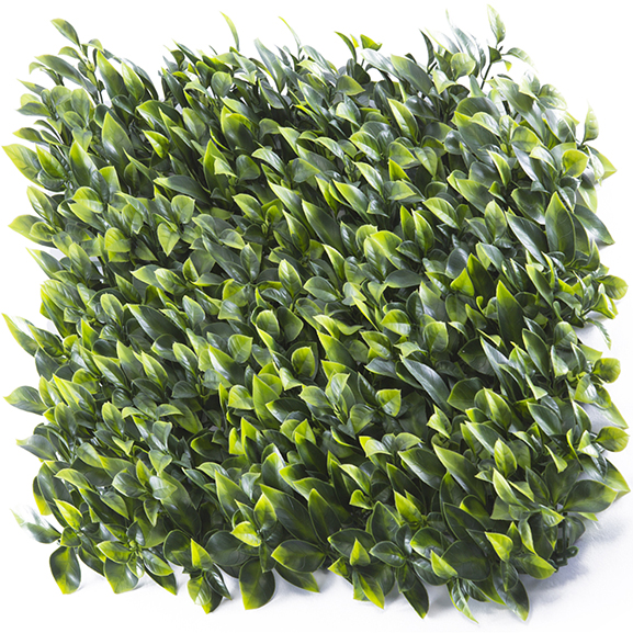 UV Coated Artificial Vertical Garden Mat with Green Leaves (50X50 cm)