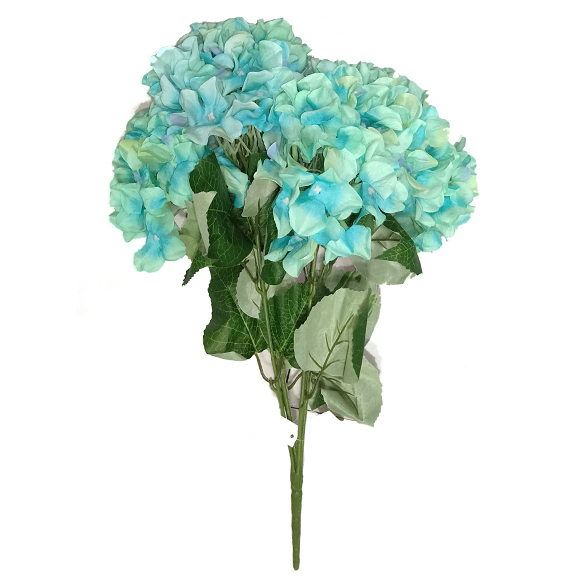 Artificial Blue Hydrangea Flower Bunch For Decor