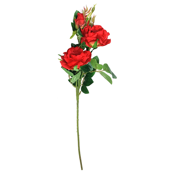 Beautiful Artificial Red Rose Flower Single Stem For Decor