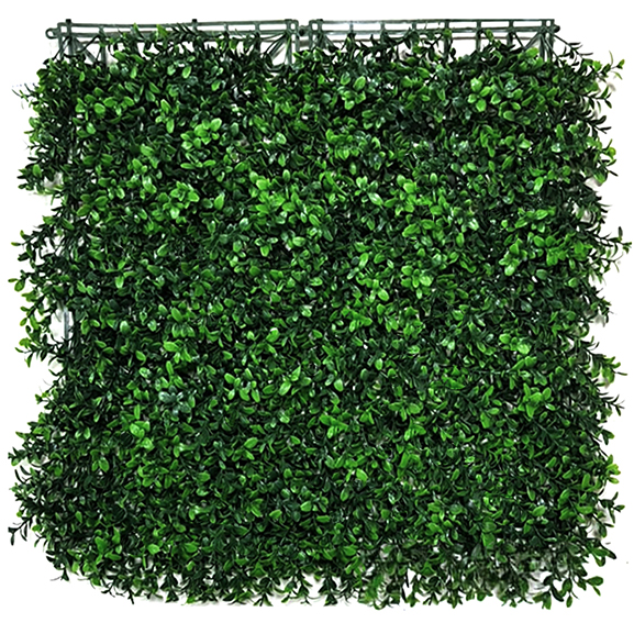 UV Coated Artificial Vertical Garden Mat With Green Leaves(50X50 cm)