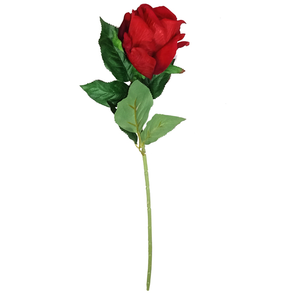 Artificial Single Stem Rose Flower For Decor