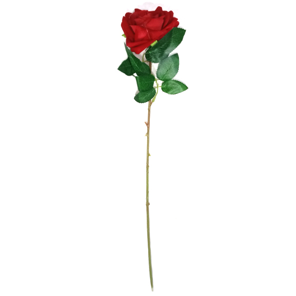 Artificial Red Rose Flower Single Stem For Home Decor