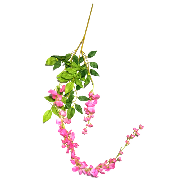 Artificial Pink wisteria Falling Flower for Home Decoration