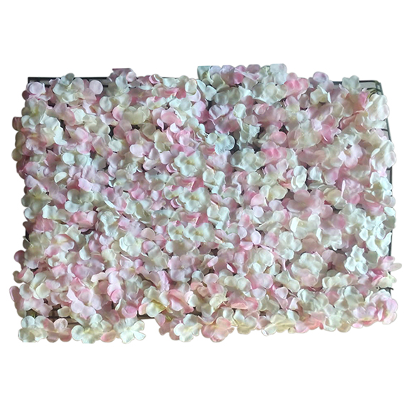 Non UV Artificial Vertical Garden Mat with Mixed Pink and white flowers (40X60 cm)