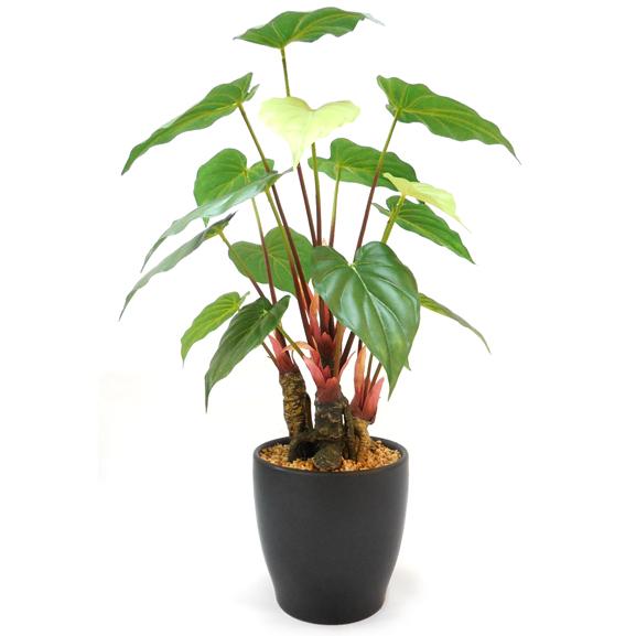Alocasia Artificial Bonsai Plant with Pot