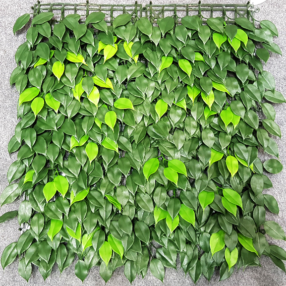 UV Protected Artificial Vertical Garden Mat with Green Leaves (50 X 50 cm)