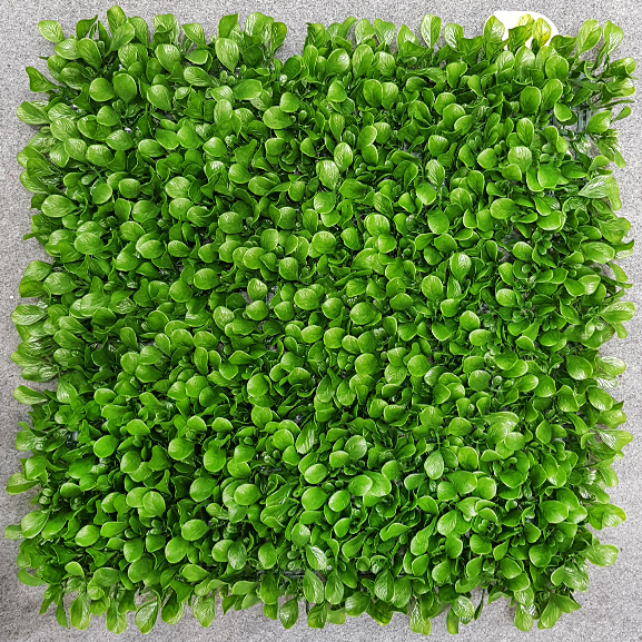 UV Coated Artificial Vertical Garden Mat with Green Leaves (50 X 50 cm)