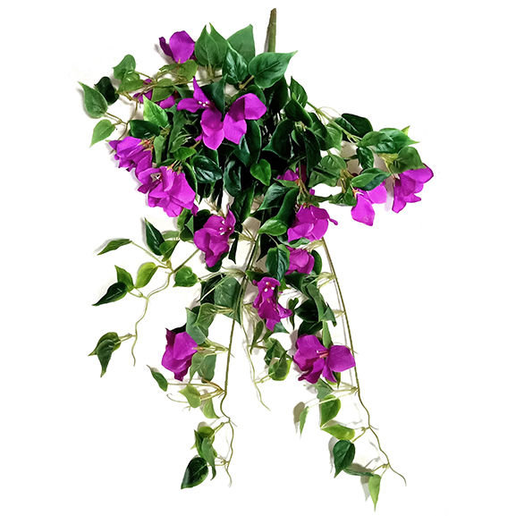 Artificial Hanging Pink Bougainvillea Flower for Decoration