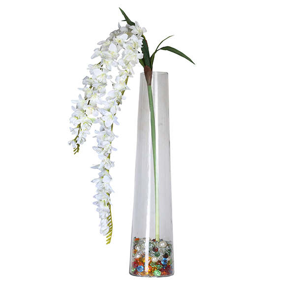 Artificial White Orchid Flower Single Stem For Decor