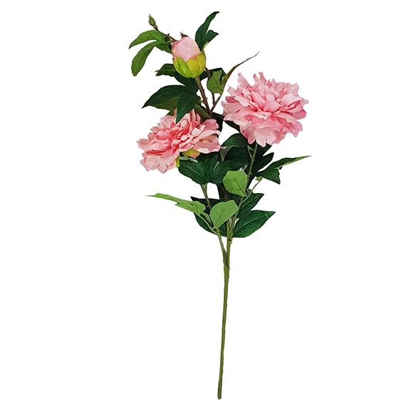 Artificial Peach Peony Flower Single Stem For Decor