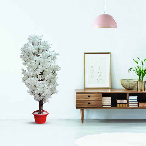 Handmade Artificial Cherry Blossoms Plant with Pot