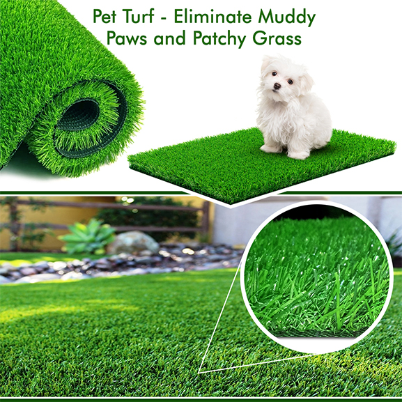 Artificial Pet Grass 25 mm for Dogs, Cats (3.28 X 3.28 ft)