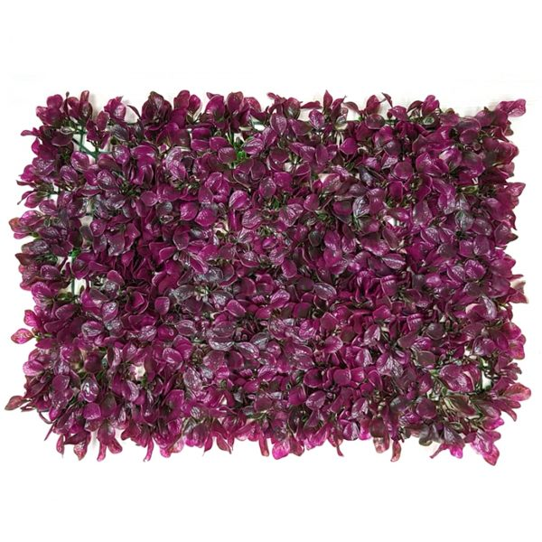 Non UV Artificial Vertical Garden Mats with Purple Leaves (40 X 60 cm )