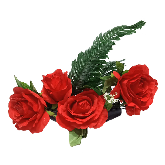 Artificial Rose Flower Arrangement with Pot