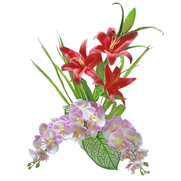 Artificial Calla Lily and Orchids Arrangement