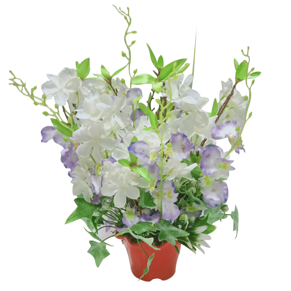 Artificial Cherry Blossoms and Orchid Flower Arrangement for Decor