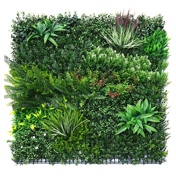 Artificial UV coated Vertical Garden Mat with Green Bush