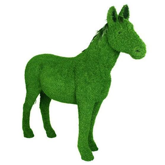 Artificial grass Horse sculpture
